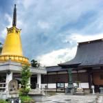 飯坂にある八幡寺で子ども寺ヨガ